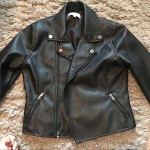 🔥 Faux Leather Jacket